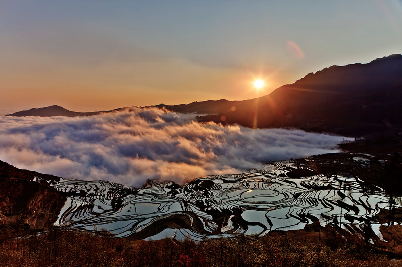 For more than 2,500 years, Yuan Yang's rice terraces have provided residents with their dietary staple and visitors with a breathtaking view.