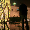 Aliens and EggShip (note the beheaded man)<br /> Jerusalem Light Festival