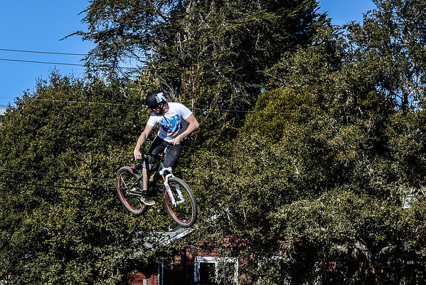 Jumping at The Post Office in Aptos