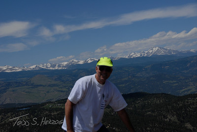 High Over Boulder Top of Bear Pk with Longs Pk over my left shoulder