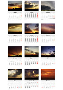 Kalendář Obloha nad Olomoucí 2016 / Skies Above Olomouc 2016 Calendar
