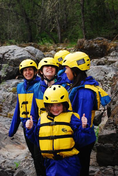 Kids love rafting
