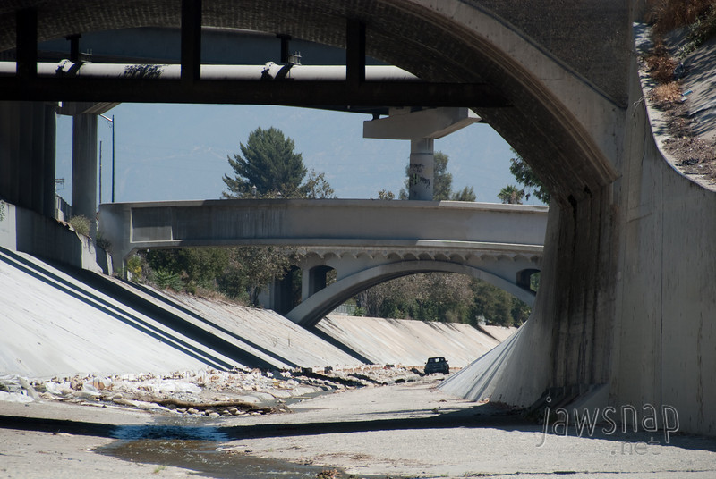 """<span id=""""title"""">Truck</span> Stop 3: Arroyo Seco Confluence You gotta wonder what its doing. Pretty sure he wasn't on a tour..."""