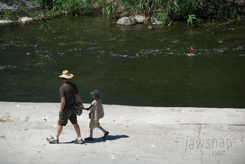 """<span id=""""title"""">Father/Son Bonding</span> Stop 2: Glendale Narrows See the boat? How cute."""