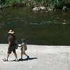 "<span id=""title"">Father/Son Bonding</span> Stop 2: Glendale Narrows See the boat? How cute."