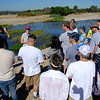 "<span id=""title"">Learning</span> Stop 1: Sepulveda Basin Our fearless leader, Jenny Price, talks to the group about the river while 100+ geese hang out in the water. She started by having us repeat ""LA is not a desert!"""