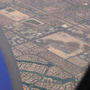 view from airplane flying into Vegas - so many houses!