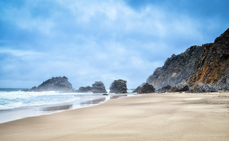 Deserted beach, Portugal