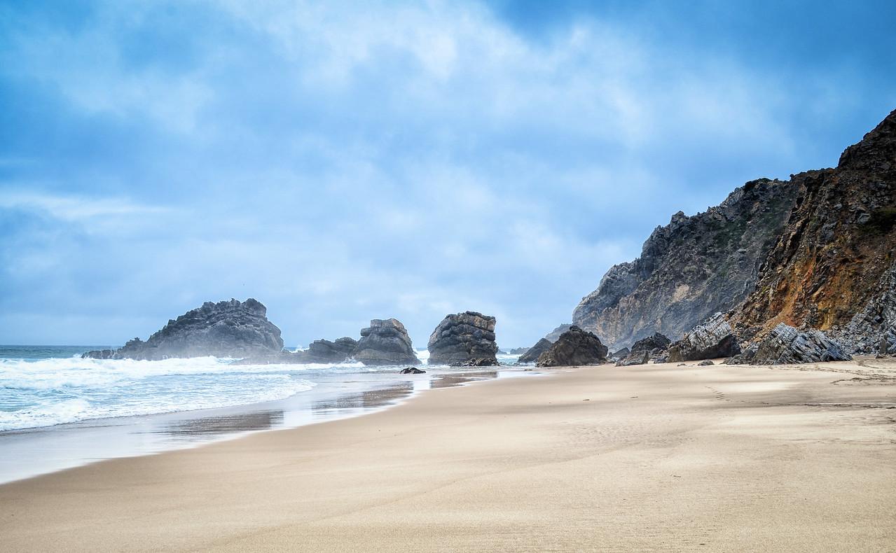 Deserted beach, Portugal