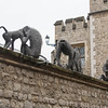 Monkey sculptures at Tower of London