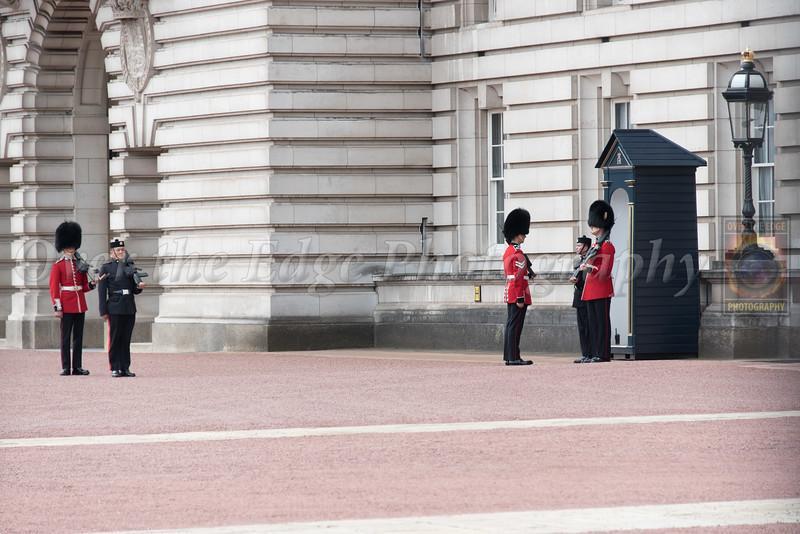 Changing of the Guard at Buckingham Palace - Grenadier Guards & Gurkha Guards