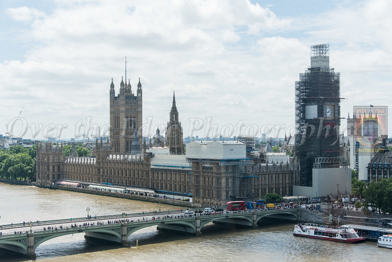 Palace of Westminster & Big Ben under Construction (from the London Eye)