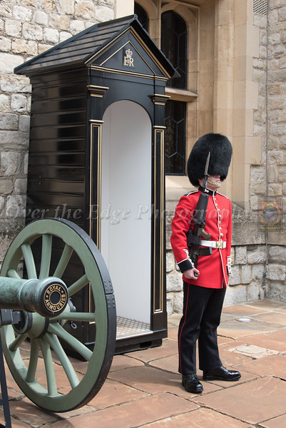 Grenadier Guard on Guard at the Crown Jewels in the Tower of London