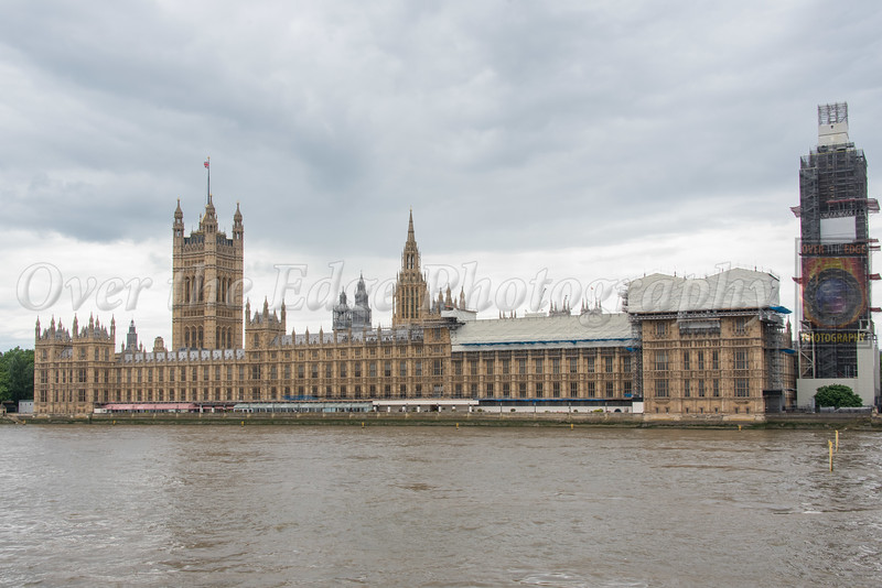 Palace of Westminster with Big Ben (under construction)