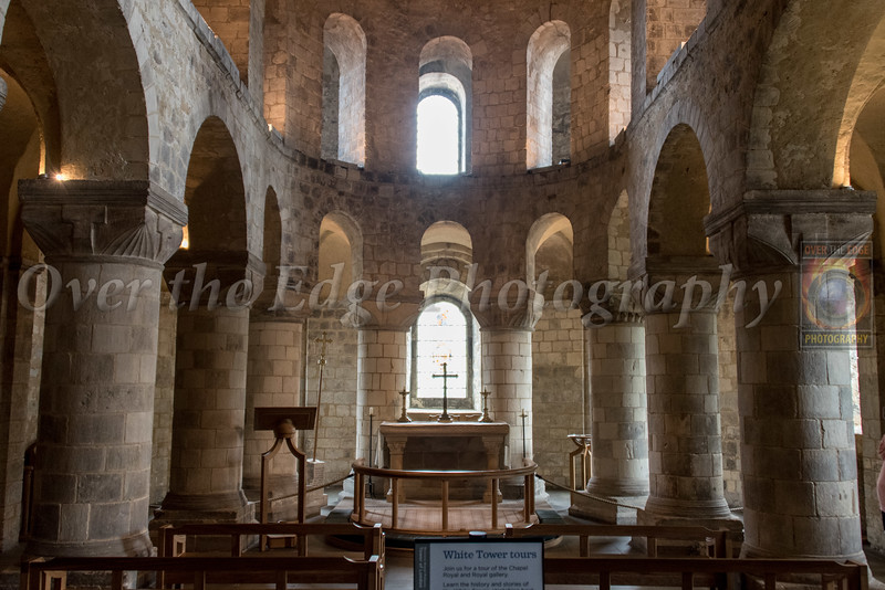 The Conqueror's Chapel inside the White Tower at the Tower of London