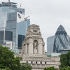 London Skyline behind Trinity Hill Memorial (from Tower of London)