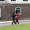 Gurkha Guard relieving Grenadier Guard at Tower Green in the Tower of London