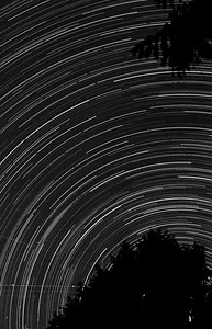 [ Star Trails #22 B&W – 2013 ]
