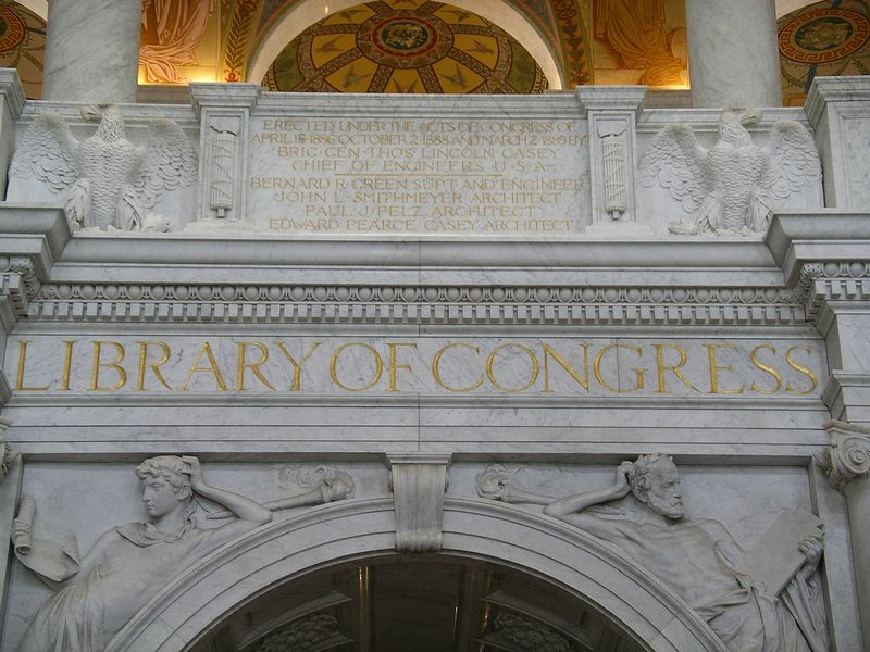 The entrance to The Library of Congress