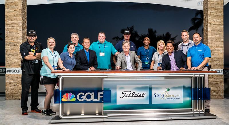2016 SONY OPEN  Golf Channel set