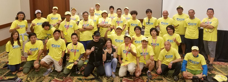 2016 Honolulu Marathon Japan Photographer Staff   ... I am in the Black SONY Visor (Local Staff Photog that manages the Local shooters)