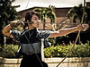 Mizue Hasegawa, Kyudo: Zen Archery ... <br /> She was the womens youth national champion of Japan, and her family has been making arrows for Kyudo for the last 130 years. She also has an advanced degree in pyschology, assisting special needs children in Hawaii.