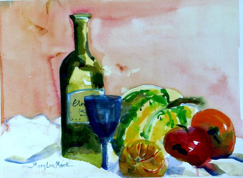 Still Life Squash And Fruit