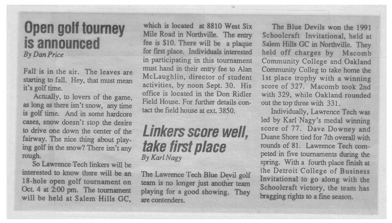 1991_ltu_golf_news_schoolcraft_invitational_042691