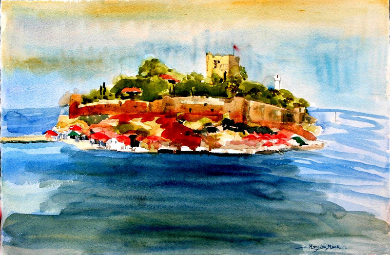 "Island in Turkey 15"" x 22"" Price: $175. Unframed"