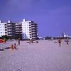 Mum and Sandra on beach near hotel (Costa Brava 1968)