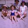 Mum & Sandra, Aunty Doreen & Tina on Sitges beach