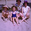 Mum & Sandra, Aunty Doreen & Tina on Sitges beach