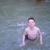 Chris in paddling pool at Towan Beach Newquay (1963)