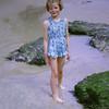 Sandra on Towan beach Newquay, 1963