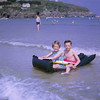 Life on the ocean waves (with life belts!), Newquay 1963