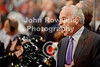 Chicago head coach Joel Quenneville yells instructions to his team on the bench during the NHL game between the Chicago Blackhawks and the Buffalo Sabres at the United Center in Chicago, IL. The Blackhawks defeated the Sabres 6-2.