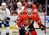 Chicago center Marcus Kruger (16) during the NHL game between the Chicago Blackhawks and the Nashville Predators at the United Center in Chicago, IL. The Predators defeated the Blackhawks 3-1.