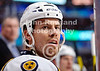 Nashville defenseman Shea Weber (6) watches the action from the bench during the NHL game between the Chicago Blackhawks and the Nashville Predators at the United Center in Chicago, IL. The Predators defeated the Blackhawks 3-1.