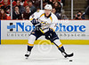 Nashville right wing Martin Erat (10) skates with the puck during the NHL game between the Chicago Blackhawks and the Nashville Predators at the United Center in Chicago, IL. The Predators defeated the Blackhawks 3-1.