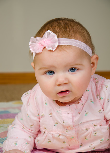 Baby with blue eyes photo