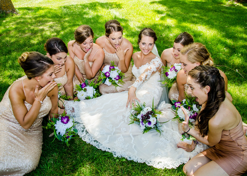 bride with her bridesmaids photo