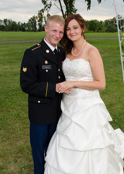 army groom & bride