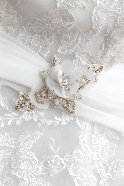 bridal gown lace details