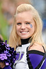A Northwestern cheerleader during the NCAA football game between the Northwestern Wildcats and the Eastern Illinois Panthers at Ryan Field in Evanston, IL.  Northwestern defeated Eastern Illinois 42-21.