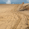 """<span id=""""title"""">Tracks</span> Great post-rain afternoon light illuminating the sand where the 4x4s drive."""