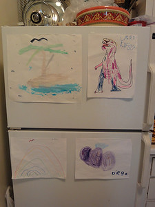 Some of my favorite art work. Diego Jaramillo, age 5 years.