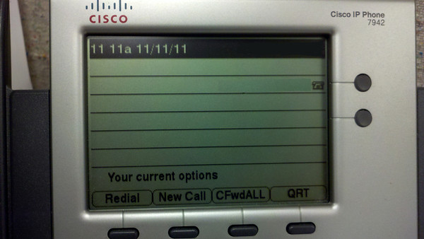 A rare moment in time. My office phone.
