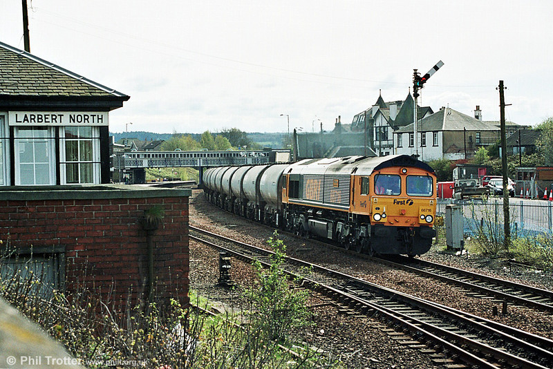 66716 'Willesden Traincare Centre' at Larbert North.  <br /> © Photo copyright GBRf.