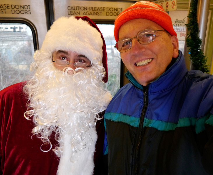 PATCO Santa Train, Lindenwold(NJ) to Phila., 07 Dec 2013.