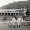 AM Lawrence as artillery master sergeant.  Probably taken late 1930's or early 1940's.  AM on left.